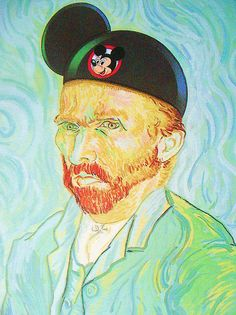 Vincent Van Goghs To Disneyland (at first I was trying to figure out the hat, then I was like 'OOOOOHHHHHH!' LOL.