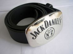 Jack Daniels Belt and Buckle - Drinks Silver Fashion Leather Belts and Buckles