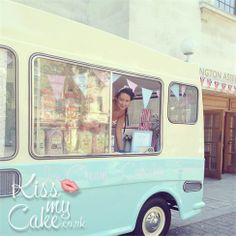 Bluebelle vintage ice cream van hire, Hampshire, Sussex, Surrey, Herts, London, Essex Kissmycake.co.uk perfect for that vintage feel and bluebell is beautiful