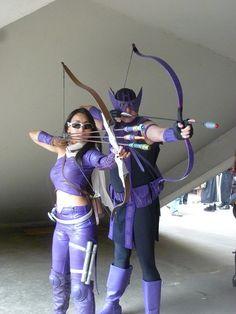 Sweeeeeeet! Both Hawkeyes (Clint Barton & Kate Bishop)