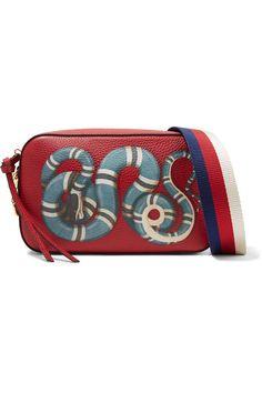Gucci - Merveilles small printed textured-leather shoulder bag 50ebf5d9c7fb3