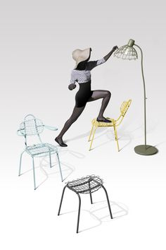 The new Sketch collection designed by Bo Reudler introduces playfulness to otherwise rational and uniform tubular steel outdoor furniture. The series consists of a chair, chair with armrests, stool, lamp and a series of tables. Each piece looks as tough it was spontaneously sketched on the spot but remains its functionality and comfort. The Sketch collection will light up any outdoor space with its vibrant colours and fun vibe.