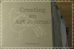 Creating an Art Journal - manually pinning your ideas to paper. :) {Little Girl Designs}