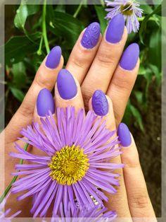 Lila géllakk, matt fedőzselével. #moonbasanails Engagement Rings, Nails, Beauty, Jewelry, Enagement Rings, Finger Nails, Wedding Rings, Jewlery, Ongles