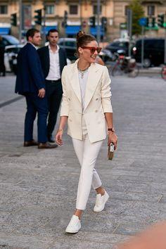 Printemps Street Style, Milan Fashion Week Street Style, Street Style Trends, Street Style Summer, Cool Street Fashion, Street Style Looks, Street Style Women, Olivia Palermo Street Style, Milan Fashion Weeks