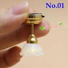 1:12 casa de muñecas en miniatura Salon Luz Led para el montaje en techo/Batería