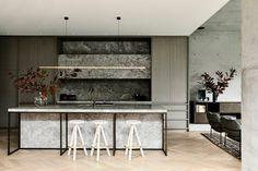 Workroom -Agushi-House-Meanwhile in Melbourne-Architecture interior design Kitchen Interior, Kitchen Design, Home Developers, Light Hardwood Floors, Cocinas Kitchen, Melbourne House, Australian Homes, Contemporary Interior, Interior Architecture
