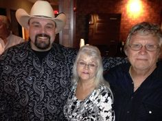 Chad Phillips with Barbara and Drop Watson backstage@opry