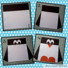 Miss Kindergarten: Square Penguin @Karyn Owens @Amy Campagna @Jamie Butler this just reminded me of the shape penguins i made last year!