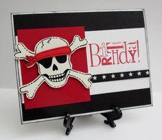 Handmade Festive Pirate Birthday Card by Anything Scrappy http://anythingscrappy.wordpress.com