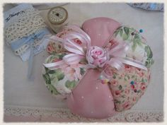 Shabby Pink Pin Cushion