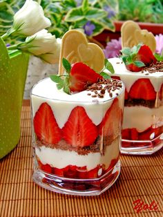 Coconut Cream with Strawberries. ** This looks lovely.