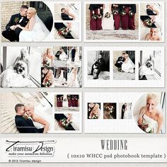 10x10 Wedding Photobook Album Photoshop by TiramisuDesign on Etsy, $28.00