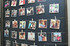 Easy wedding decor idea: Display photos on a DIY Instagram Photo Wall!
