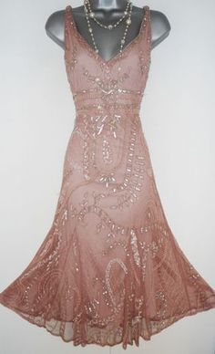 Principles Pink Embellished Deco Gatsby Flapper Charleston Evening Dress Size 14 | eBay