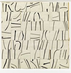 moodboardmix: Ellsworth Kelly Brushstrokes Cut into Forty-Nine Squares and Arranged by Chance 1951 Cut-And-Pasted Paper and Ink on Paper 13 x x cm) MoMa Ellsworth Kelly, Line Drawing, Painting & Drawing, Drawing Board, Drawing Tips, Art Blanc, Automatic Drawing, Design Blog, Web Design
