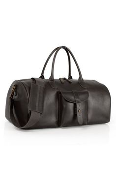 Men s Timberland  Calexico  Leather Duffel Bag - Black Sack Bag 8271361cc2be6