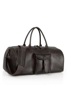 Men's Timberland 'Calexico' Leather Duffel Bag - Black