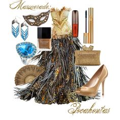 """Pocahontas Masquerade"" by kmacleod on Polyvore"