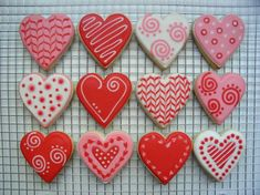 Heart Cookies By Imogene (royal Icing Cookies Valentines)