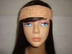 Dolly bow headband tie pinup hair bow TAN by orangemonkeydreams