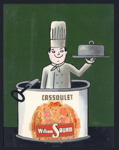 Cassoulet William Saurin par Raymond Savignac