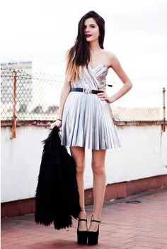 Clara from CoMonroe wearing METALLICA dress <3
