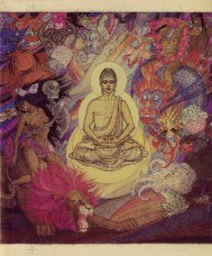 Jeanne Mammen, 1890-1976, Die Versuchung des Buddha, 2nd version