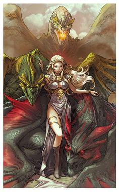Game of Thrones - Daenerys Targaryen by Paolo Pantalena *