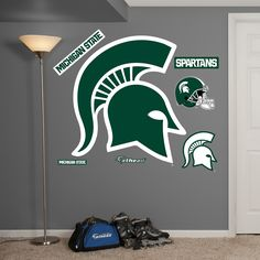 Michigan State Spartans Logo Fathead - for the movie room?