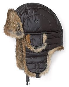 Crown Cap - Fur Trim Puffer Aviator Hat Aviator Hat, Trapper Hats, Fur Trim, Canada Goose Jackets, Winter Jackets, Cap, Crown, Backpacks, Accessories