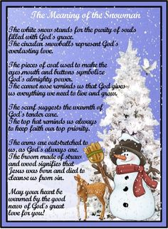 Legend of the Snowman Poem | ... .com • View topic - Poem: Meaning of the Snowman + Printable