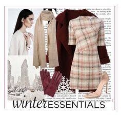 """Winter Red Essentials"" by marilynn96 ❤ liked on Polyvore featuring moda, Carven, Stuart Weitzman i John Lewis"