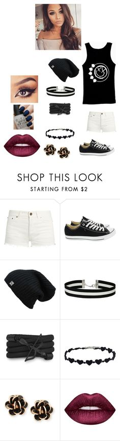 """""""going to a party"""" by reyesang ❤ liked on Polyvore featuring Yves Saint Laurent, Converse, Miss Selfridge, Monza, Chantecler, Lime Crime, OPI and party"""