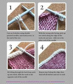Icord Border tutorial at Crafts from the Cwtch - Knitting for beginners,Knitting patterns,Knitting projects,Knitting cowl,Knitting blanket Knitting Help, Knitting Stiches, Knitting For Beginners, Loom Knitting, Knitting Needles, Knitting Patterns Free, Baby Knitting, Start Knitting, Knit Stitches