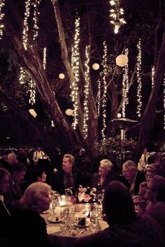 LOVE these types of hanging lights - looks like weeping willow branches :) 75 Romantic Wedding Lights Ideas | HappyWedd.com