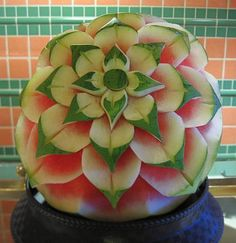 Beautiful Art Made By Carving Melons