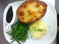 Pie of the Week - Chicken, Ham & Vegetables SW Mash, Home-made Gravy, Green Beans
