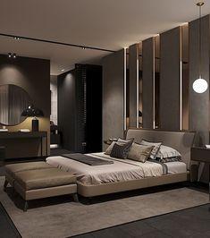 luxury master bedroom interior design - Internal Home Design Modern Luxury Bedroom, Luxury Bedroom Design, Modern Master Bedroom, Master Bedroom Design, Luxurious Bedrooms, Home Decor Bedroom, Dark Bedrooms, Interior Design, Luxury Bedrooms