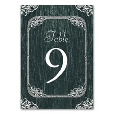 Vintage Typography wedding chalkboard Table Cards http://www.zazzle.com/themeweddingboutique*