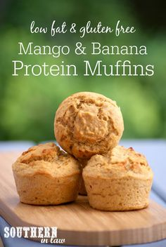 These Mango and Banana Muffins contain around 7 grams of protein per muffin and are only around 85 calories each! You would never know these muffins contained protein powder as they are light, fluffy and delicious whilst also low fat, gluten free, refined sugar free, clean eating friendly and so easy to make!