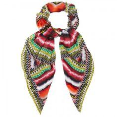 Printed silk chiffon scarf by Peter Pilotto