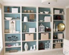 Brilliant Built In Shelves Ideas for Living Room 30