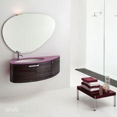 Trend - blat szklany, umywalka ceramiczna podwieszana | prince.net.pl