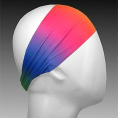 Light Performance Spandex Headband by Ponya Bands in Pride Rainbow | ponyabands.com