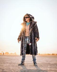 """Logan Paul (@loganpaul) Instagram: """"I'm the Burning Man cuz this coat is hot af """""""