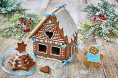 Chatka z piernika Gingerbread, Food, Food Recipes, Meal, Essen, Hoods, Meals, Eten