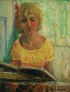 Menina lendo, 1930 by Anita Malfatti born December 2, 1889 in São Paulo, Brazil died November 6, 1964 (74) in São Paulo, Brazil