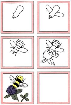 How to Draw a Bee & Flower Kids Drawing Lesson.