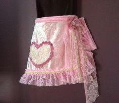GIRLS WRAP SKIRTpink crushed velvet pink by SwirlnTwirlKids Velvet Skirt, Boho Girl, Party Skirt, Long Ties, Cream Roses, Pink Velvet, Crushed Velvet, Pink Lace, Party Rock
